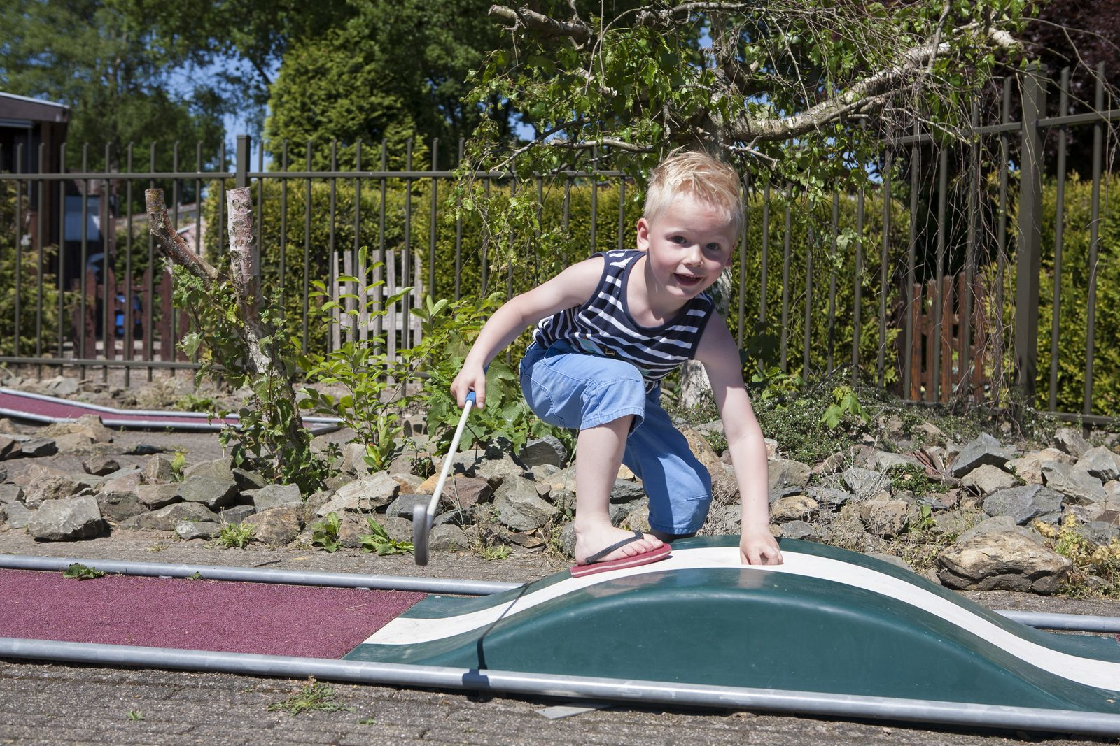 Miniature golf is lots of fun for the kids as well