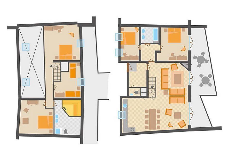 Půdorys apartmánu 12S