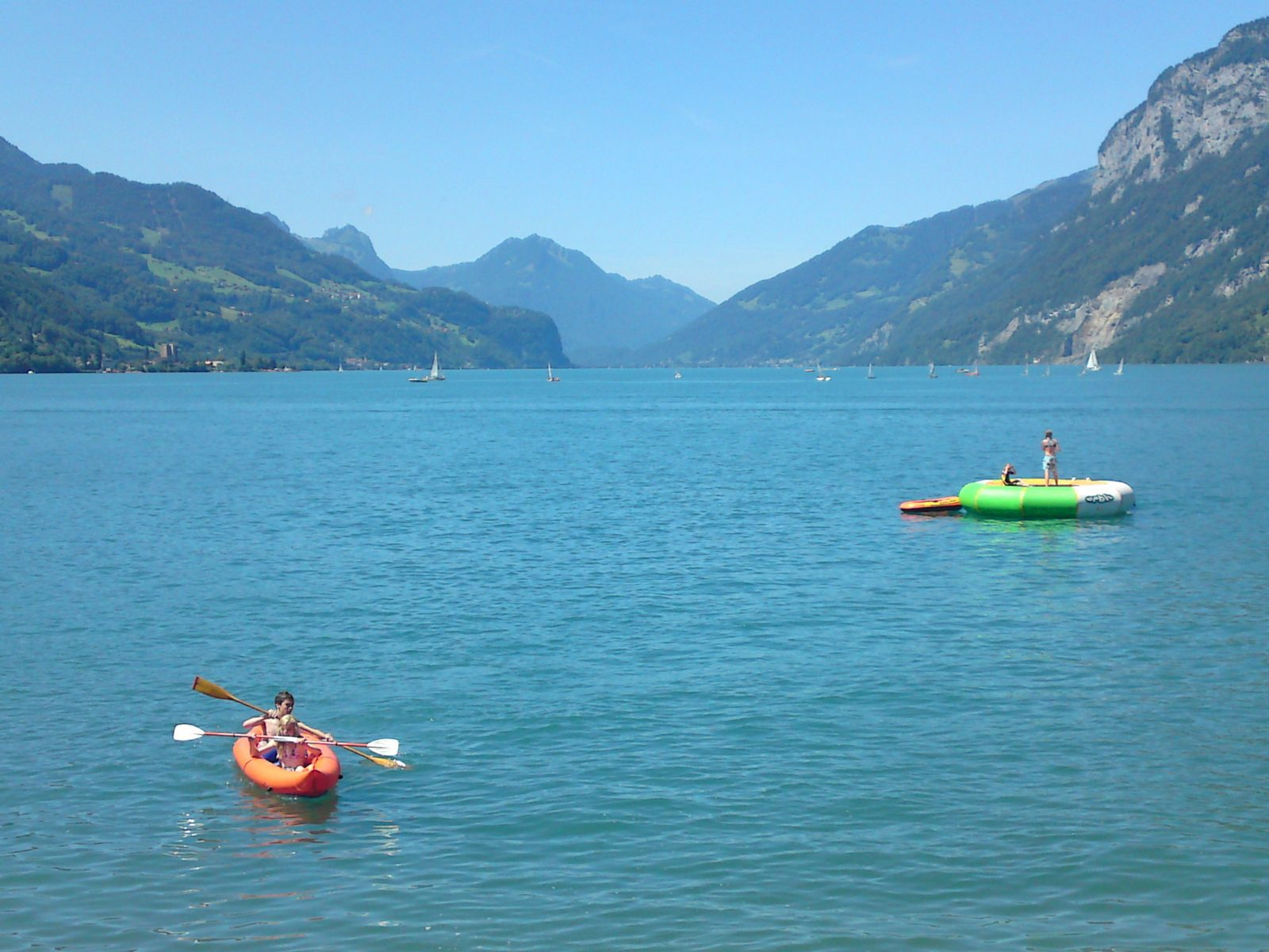 Water sports on the Walensee