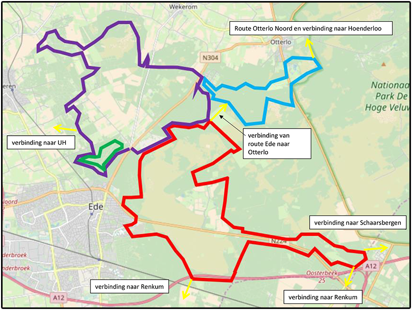 All-terrain bike routes near Ede and Lunteren