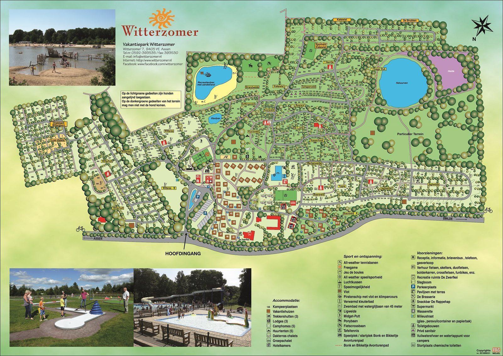 Plattegrond vakantiepark Witterzomer