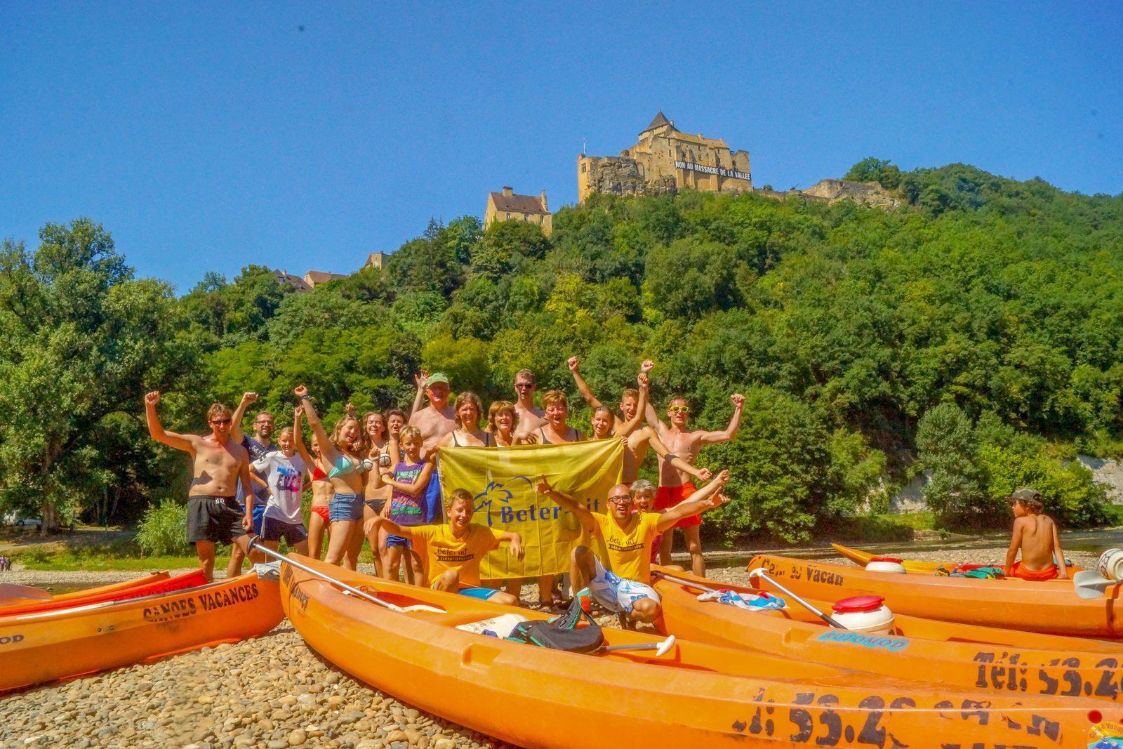 kanoen op de Dordogne bij vakantiepark La Draille