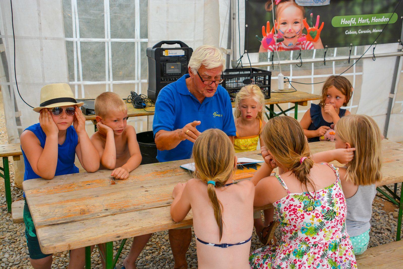 Kinderen Vell Emporda witte tent kinderland