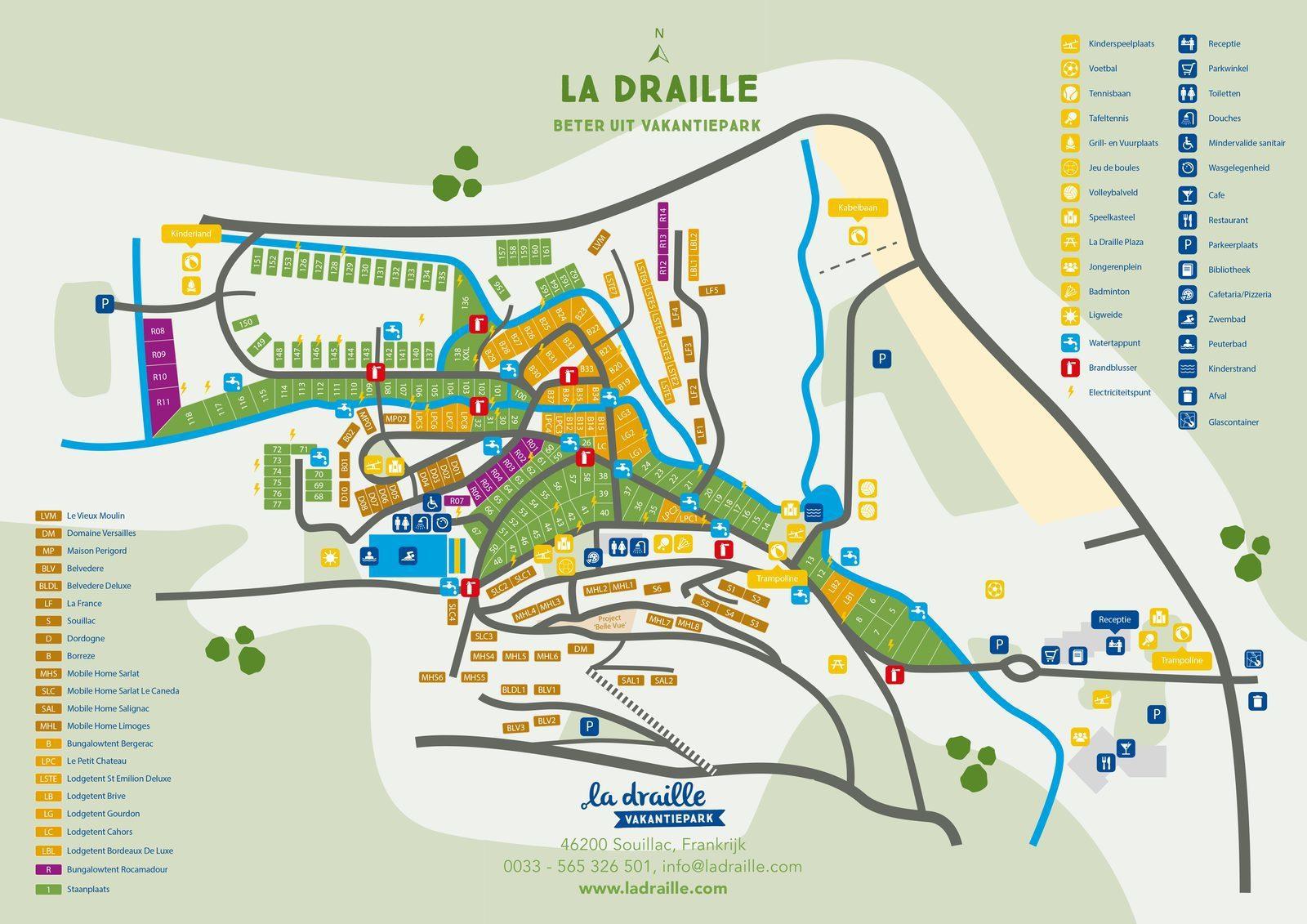 Plattegrond Beter Uit vakantiepark La Draille