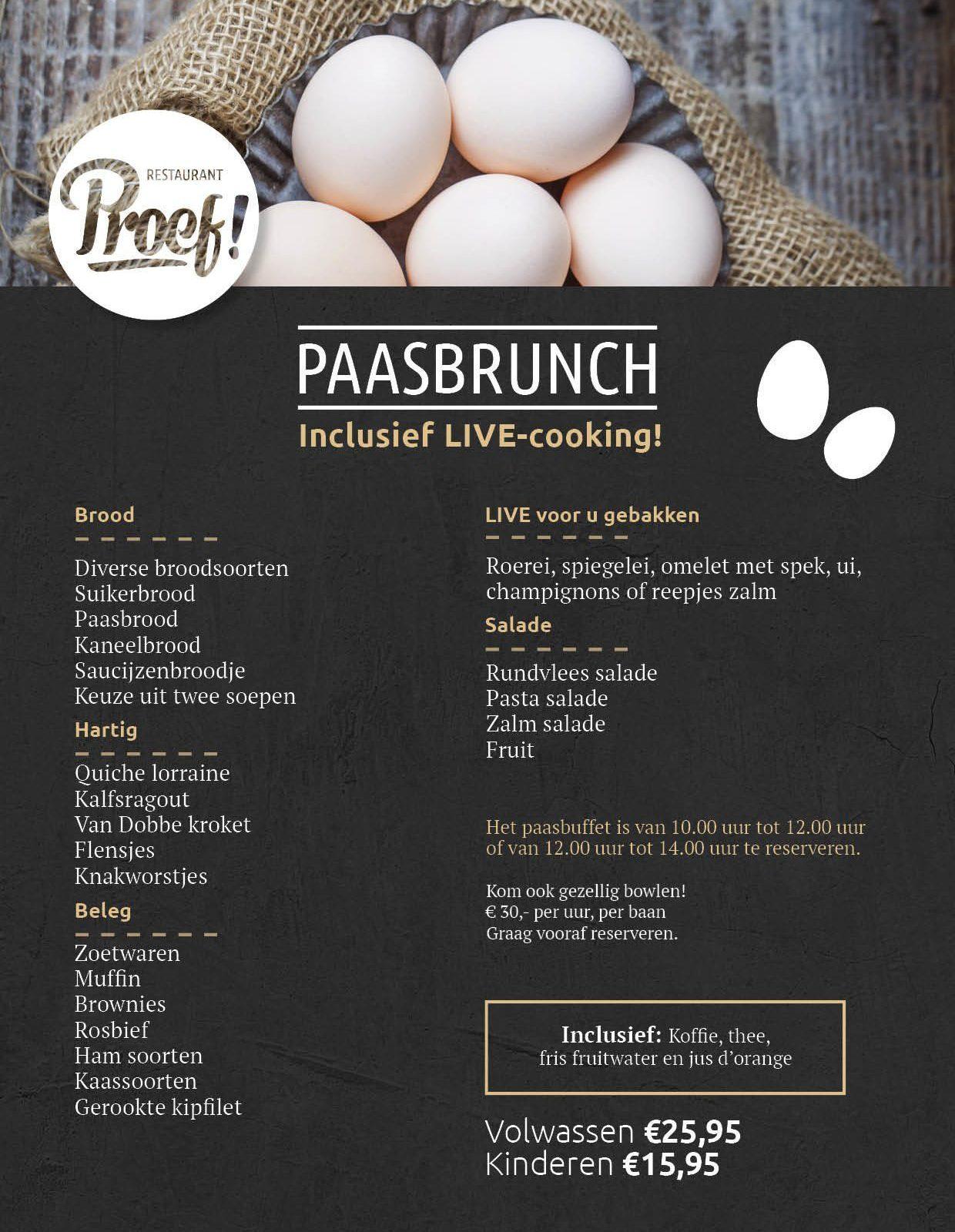 Paasbrunch met LIVE-cooking in Voorthuizen!