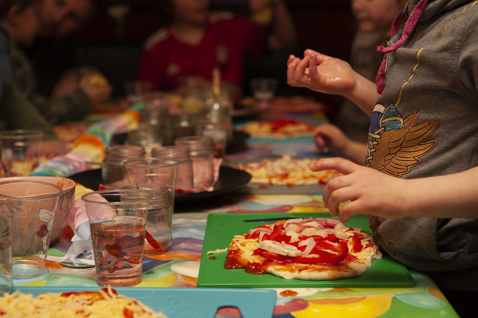 Pizza kinderfeestje in Voorthuizen