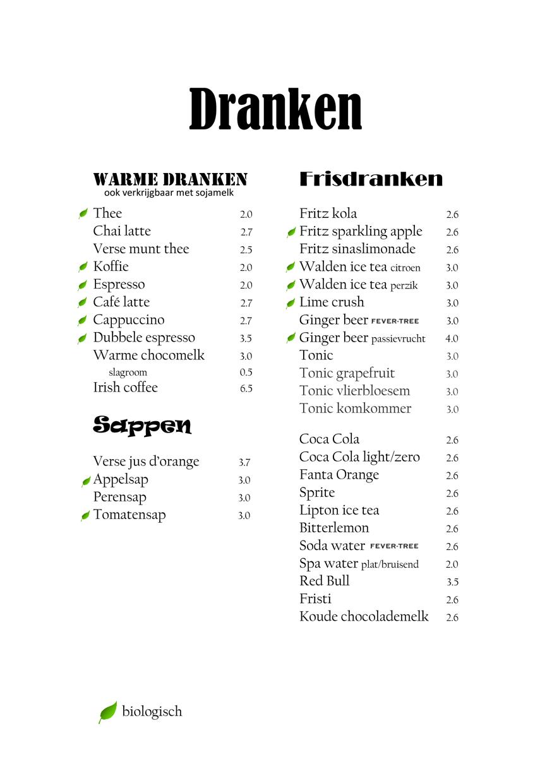warme dranken