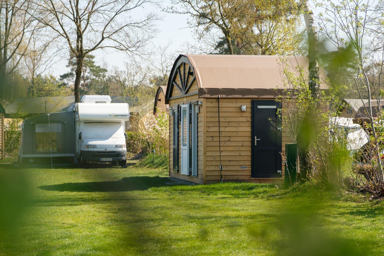 Camping mit Privatsanitäreinrichtung