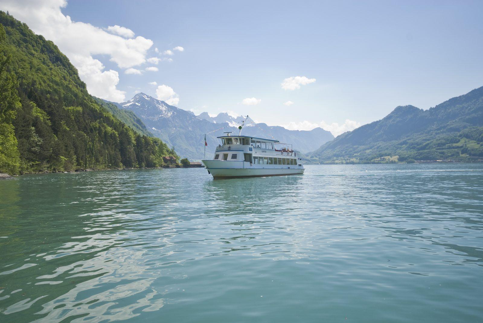Bootsfahrt auf dem Walensee