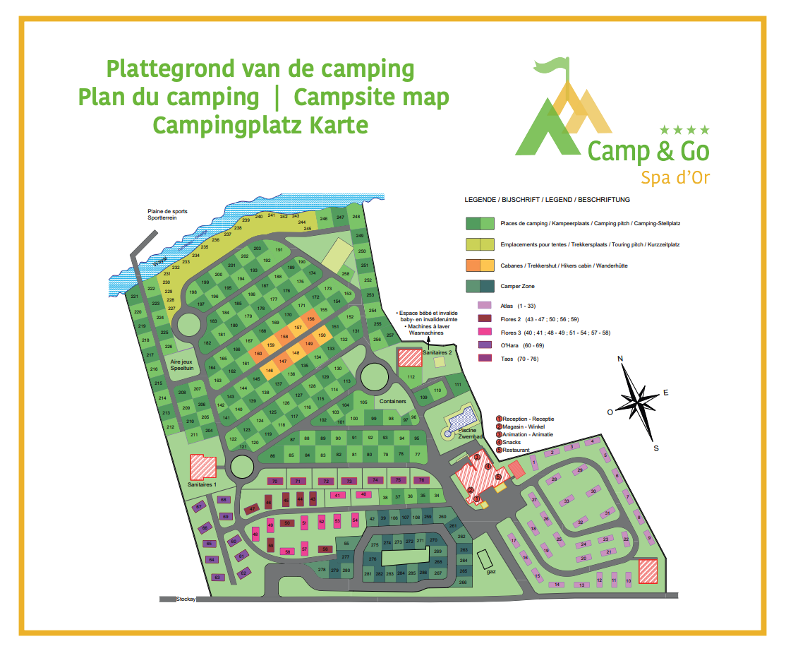 Plattegrond Spa d'Or