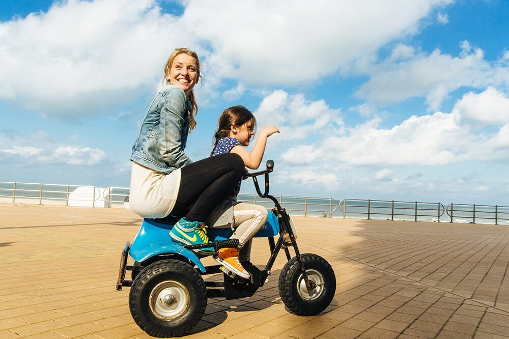 Gocart sur la digue
