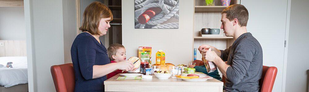 Petit déjeuner à Holiday Suites Zeebruges