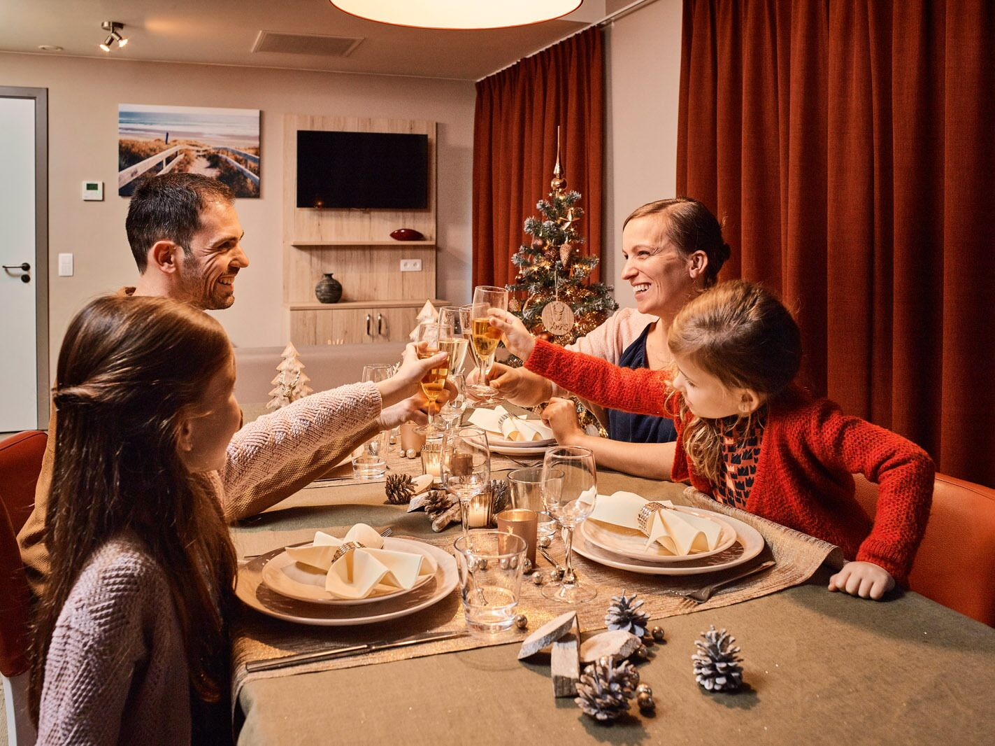 Family at the table - Christmas Holidays