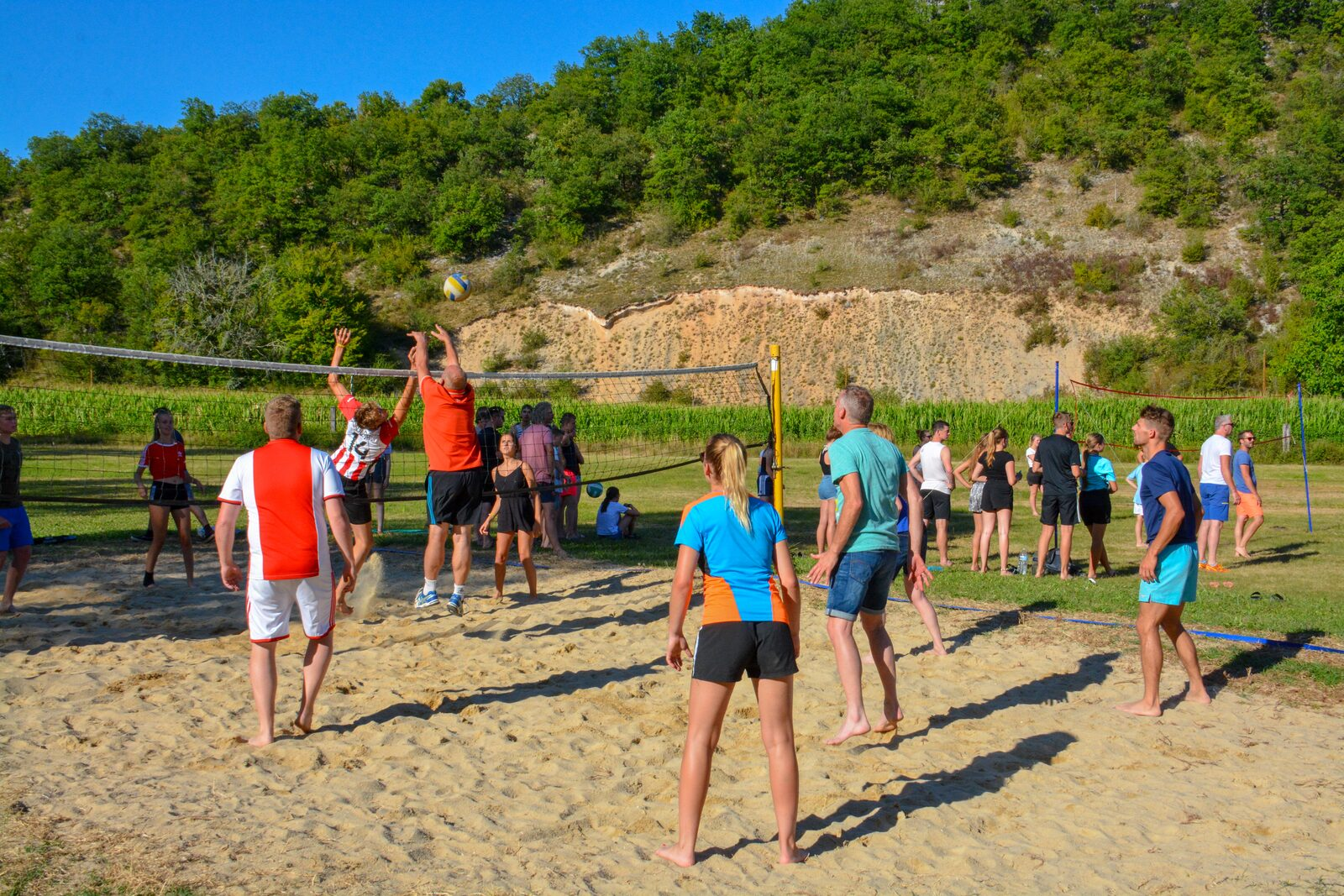 Volleyball tournament at La Draille Beter Uit holiday park