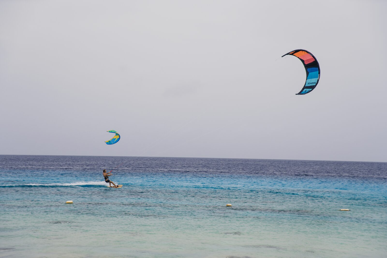 Praticar kitesurf em Bonaire
