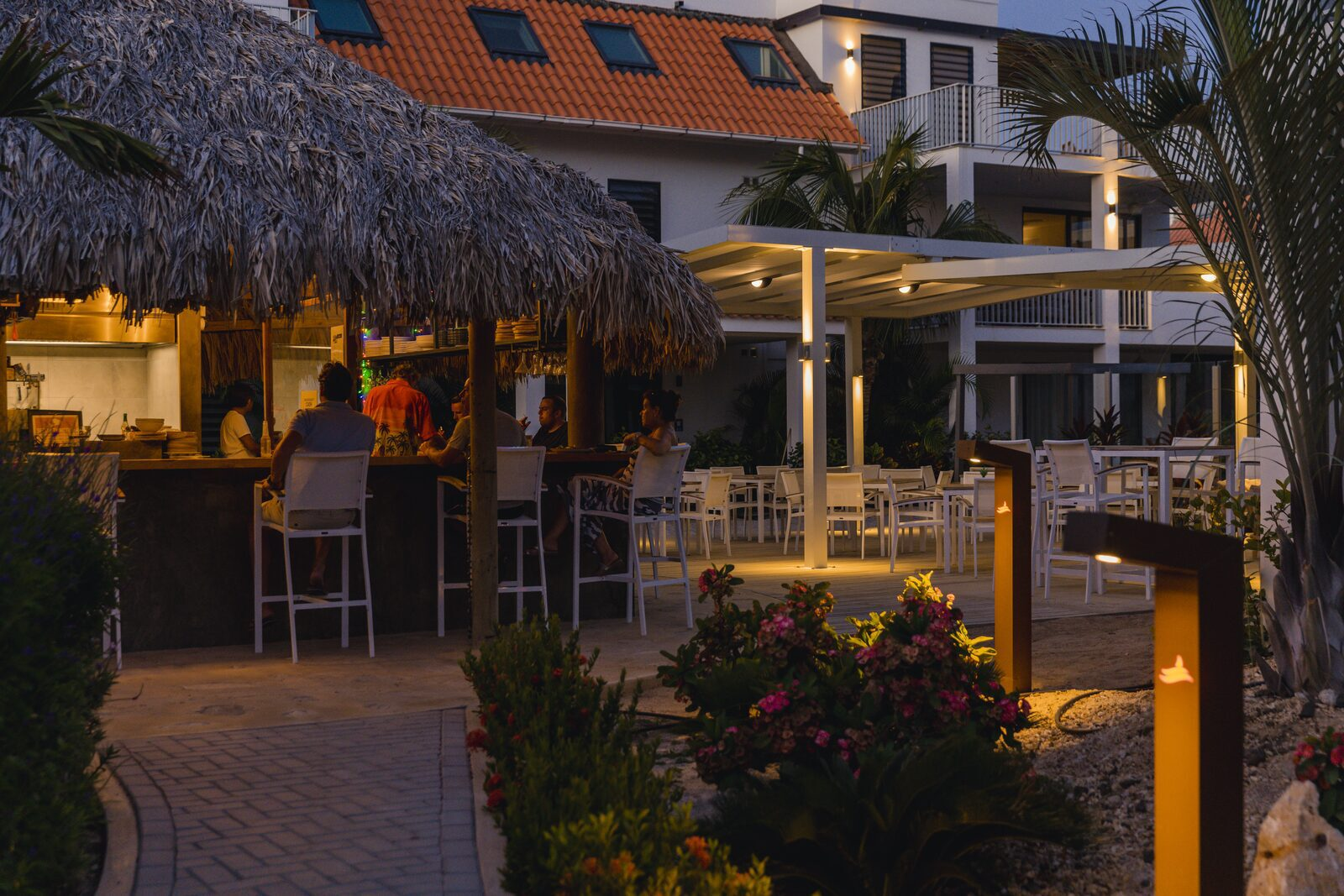 Resort Bonaire in de avond