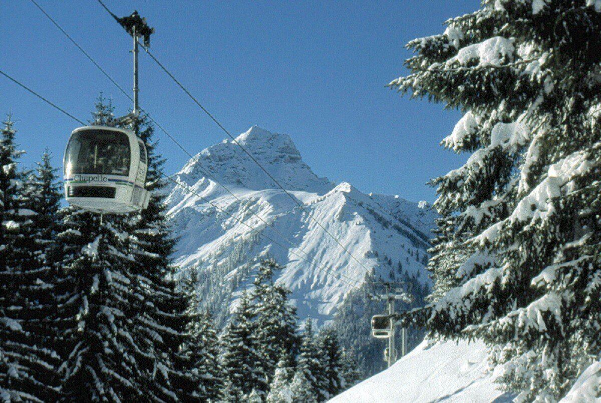 La station de ski à la Chapelle d'Abondance