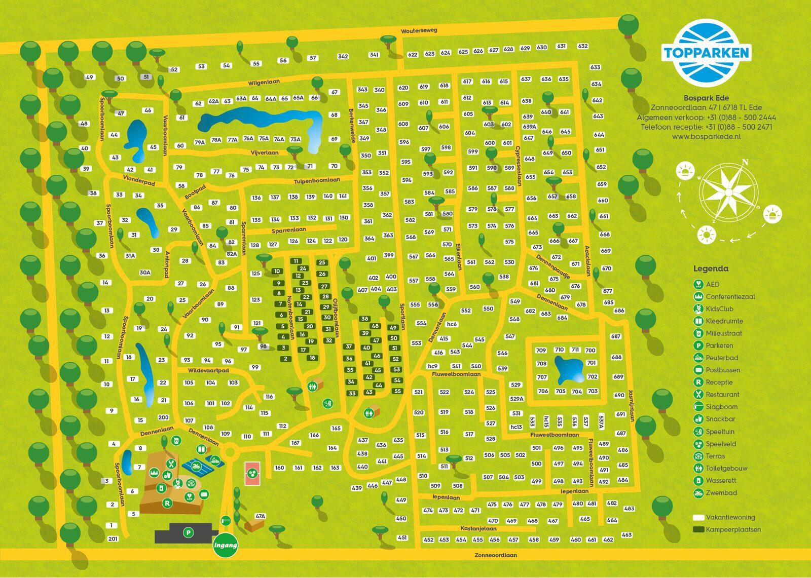 Parkplattegrond Bospark Ede