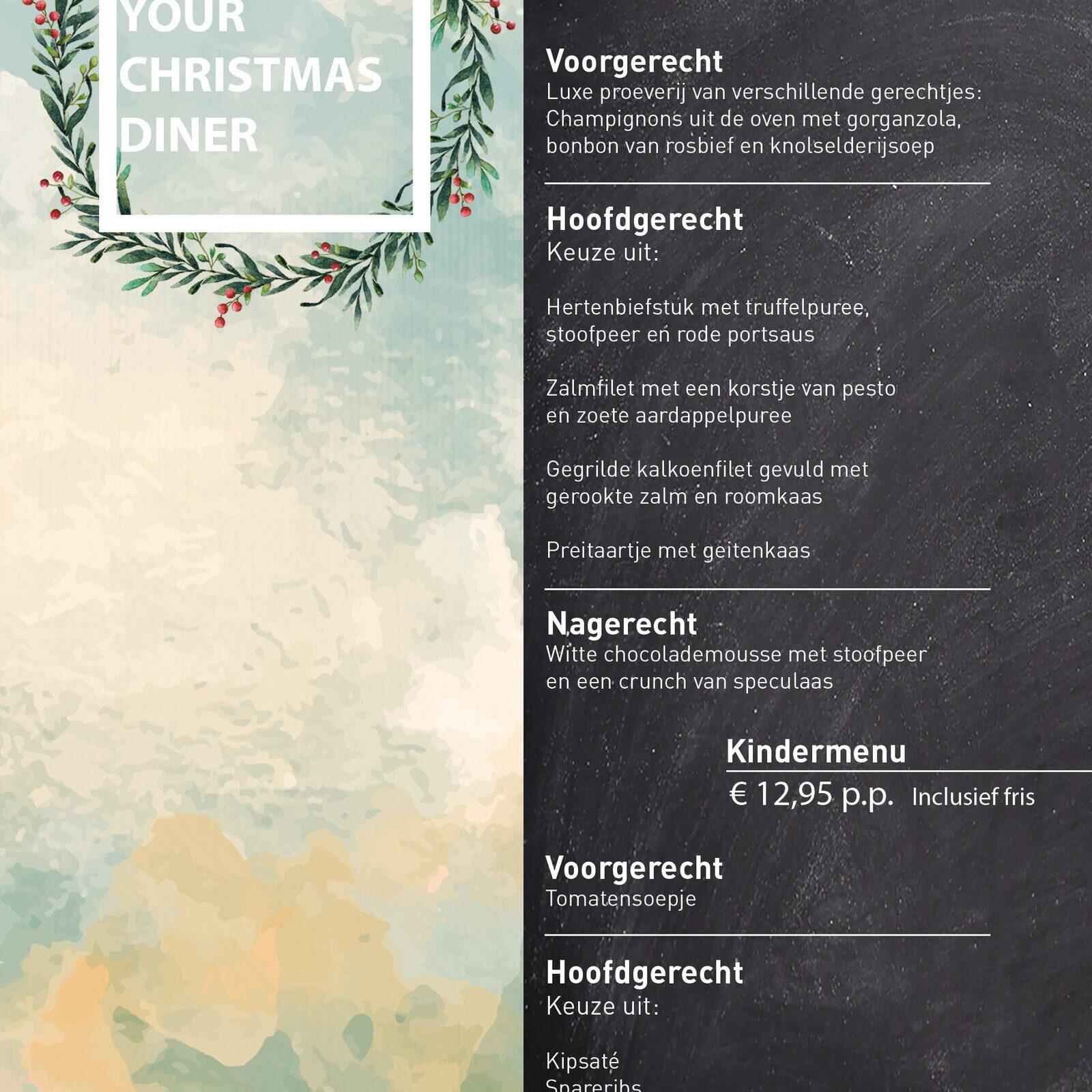 3-gangen Kerst diner in Voorthuizen