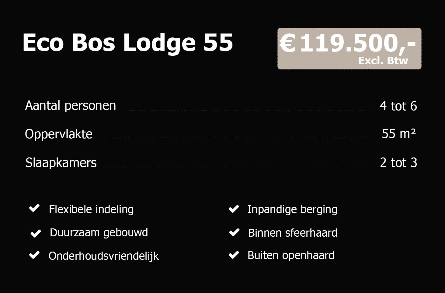 Eco Bos Lodge 55