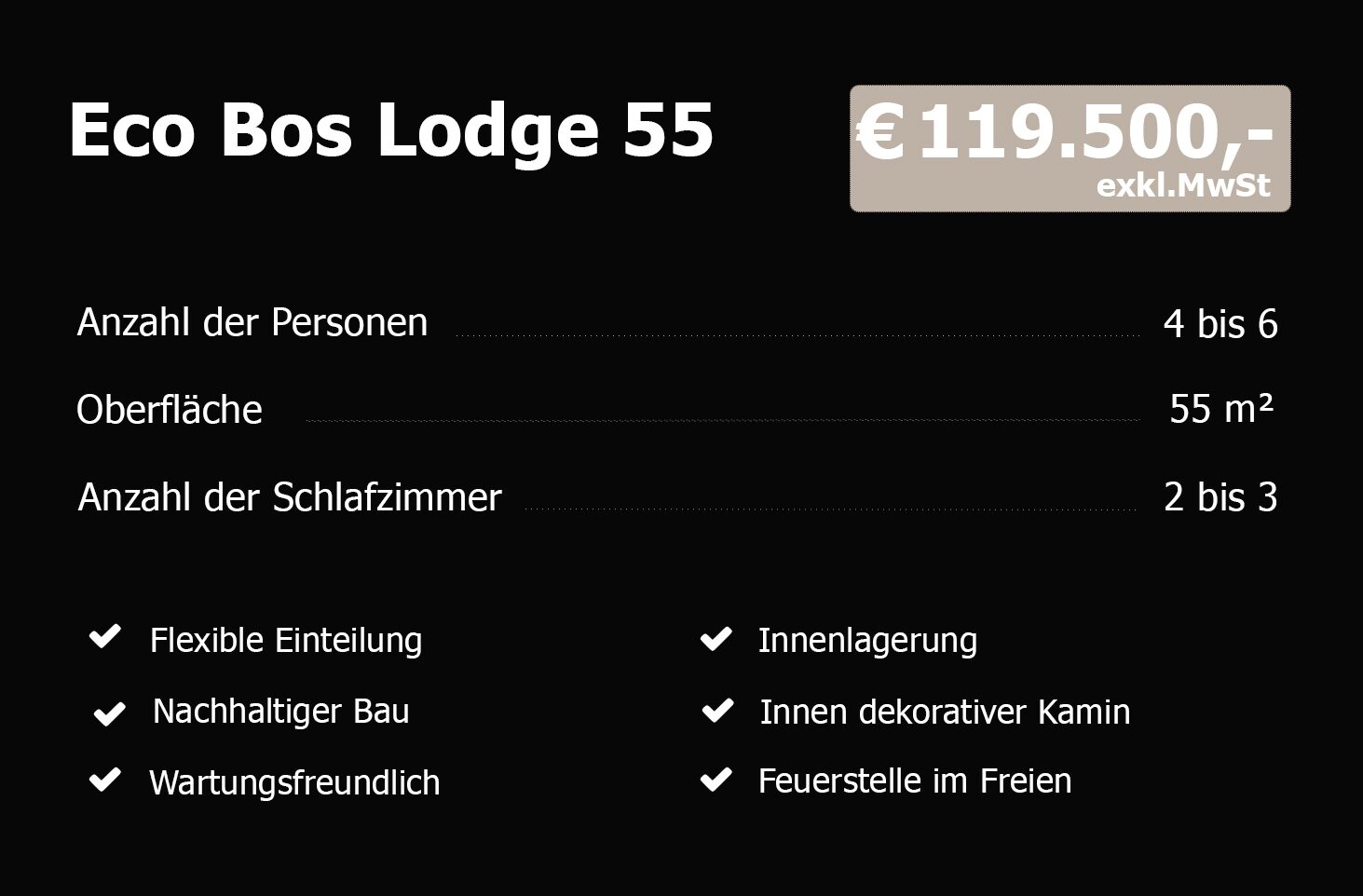 Eco Bos Lodge 55