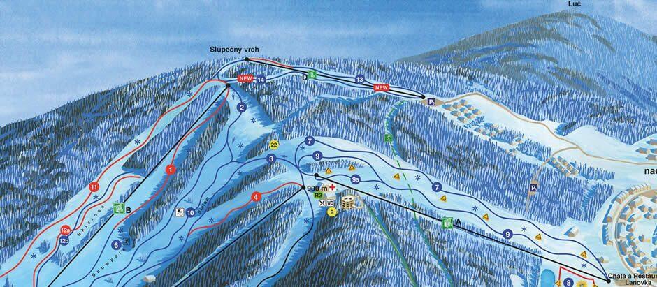 Ski area Lipno map