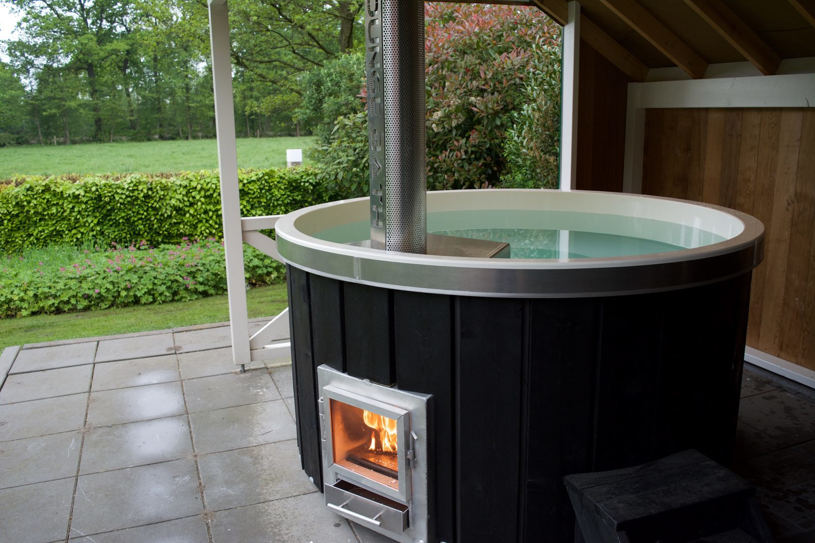 All homes are equipped with a new hot tub type