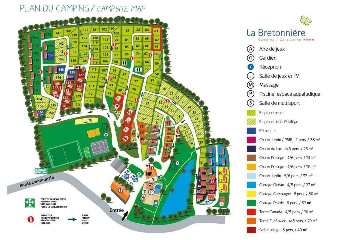 Plattegrond La Bretonnière