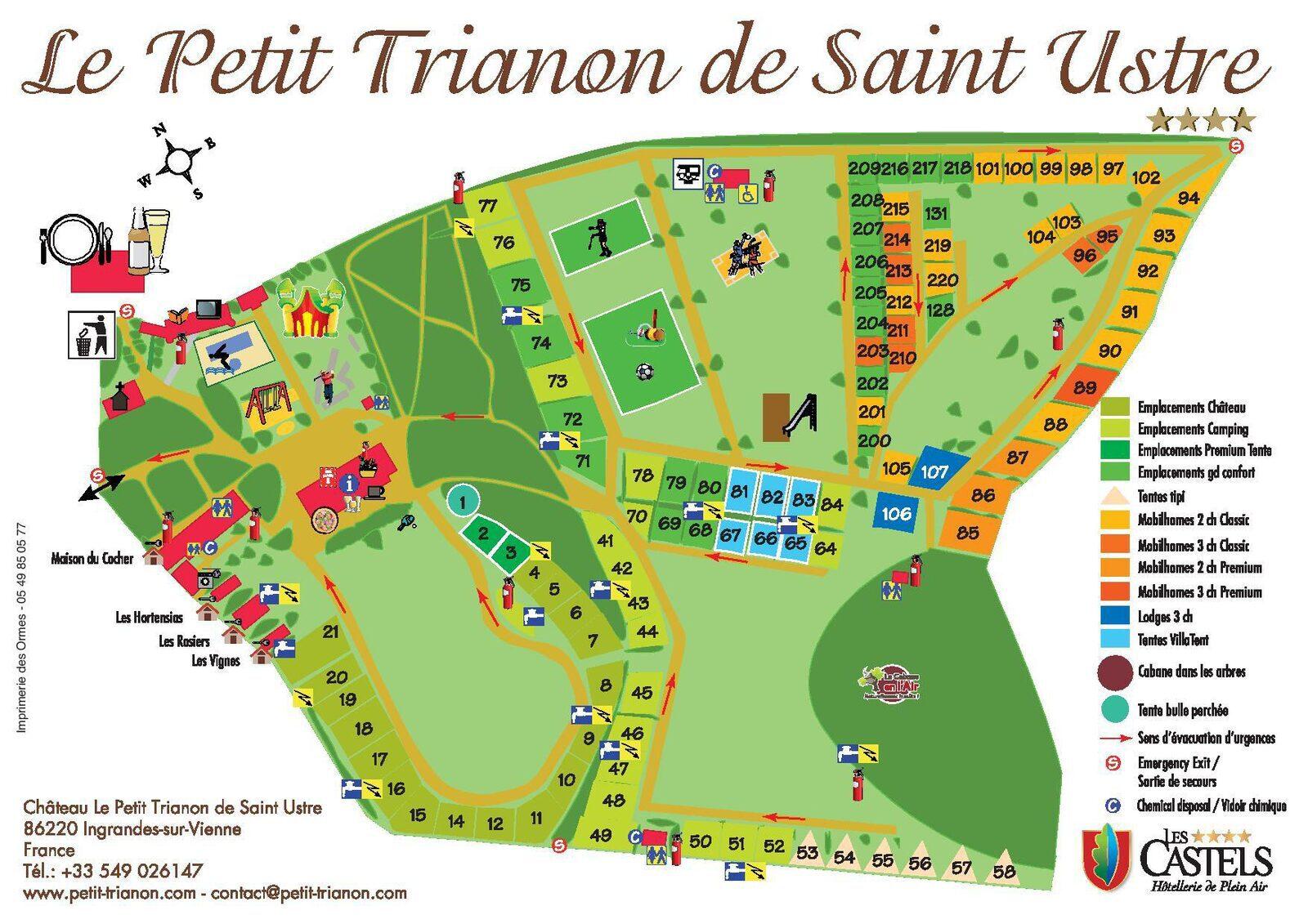 Plattegrond Le Petit Trianon