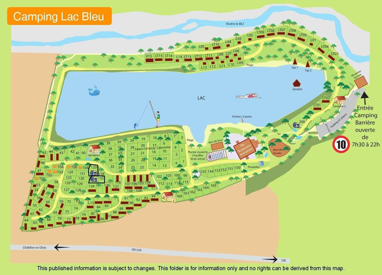 Map Le Lac Bleu