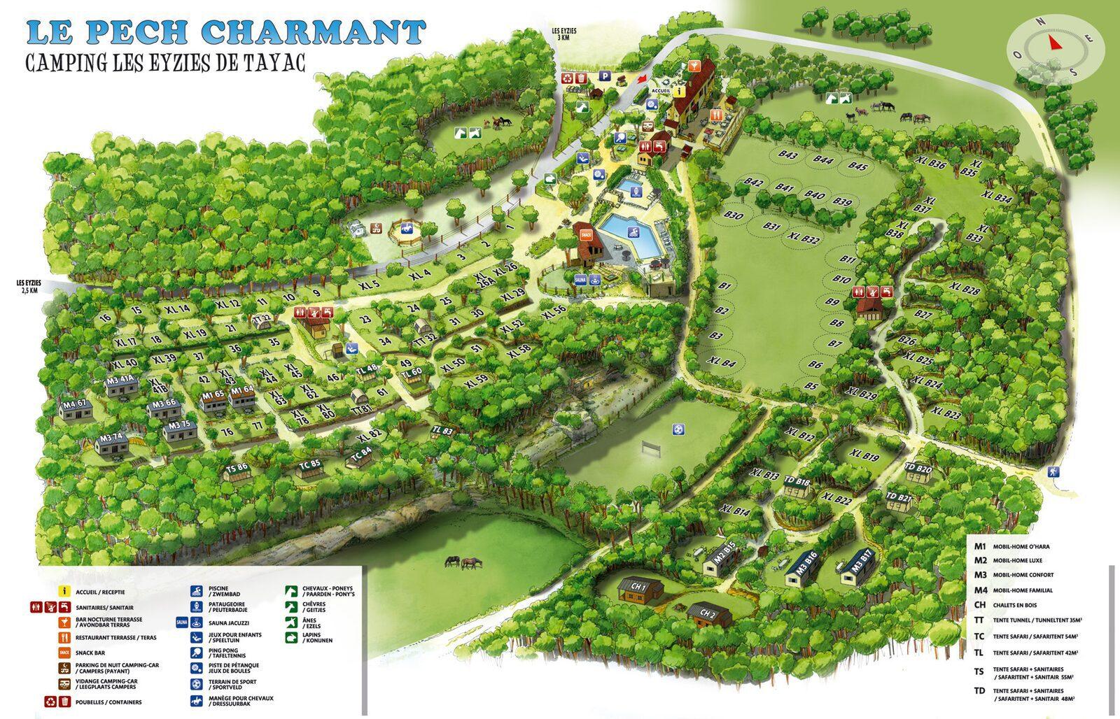 Map Le Pech Charmant