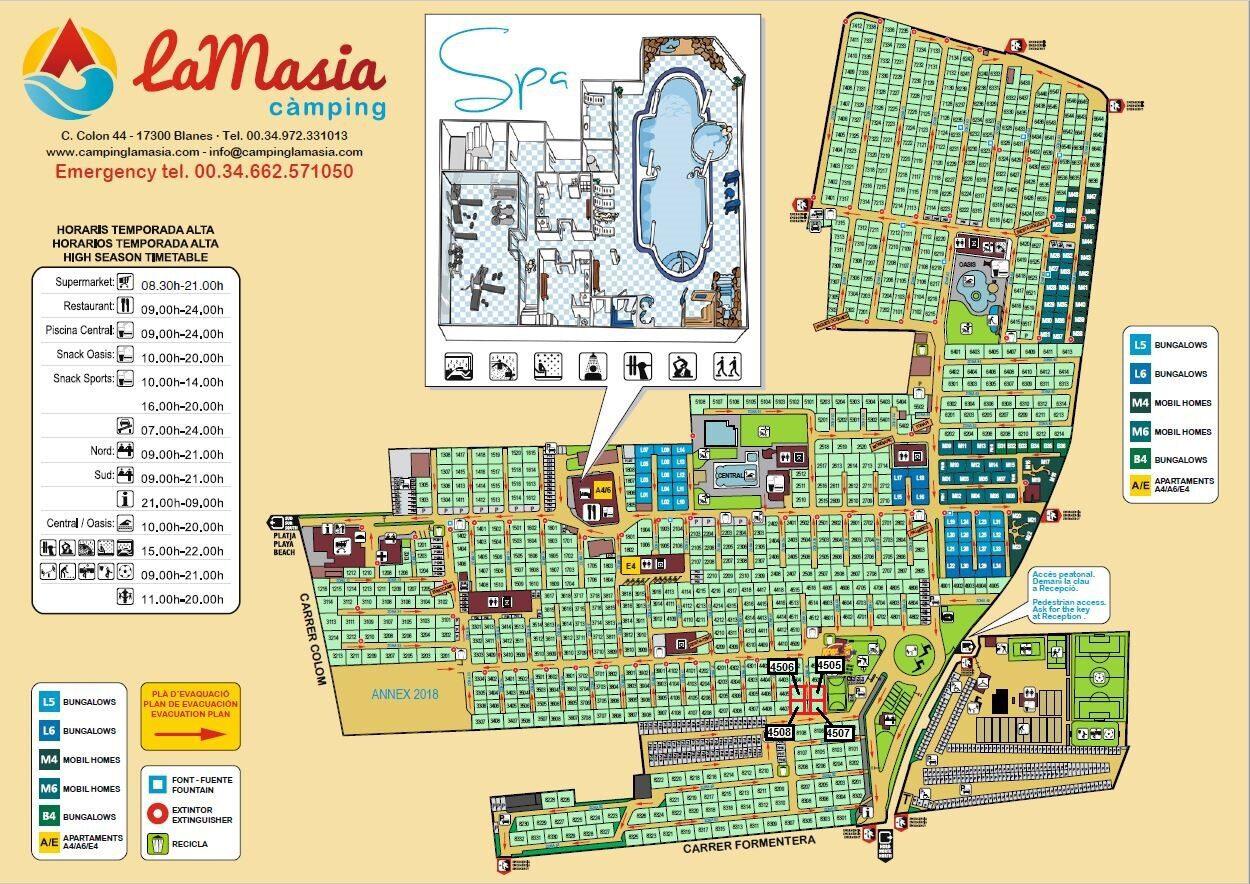 Plattegrond La Masia