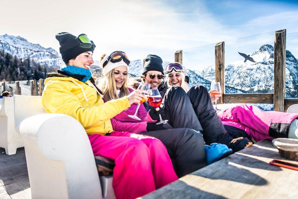 Aprés ski skiën in januari