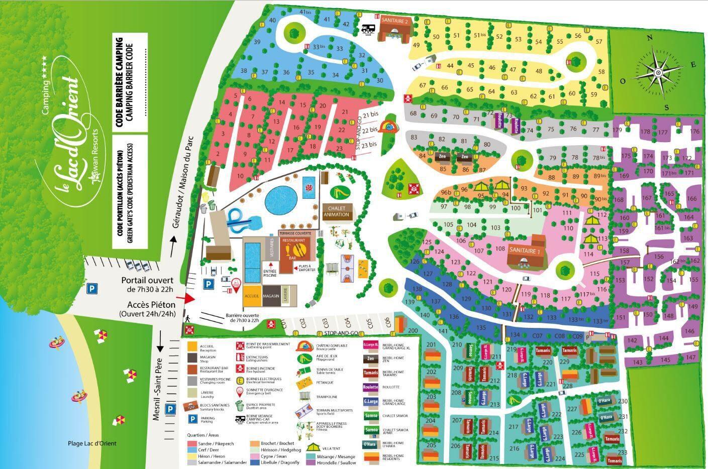 Map Lac d'Orient