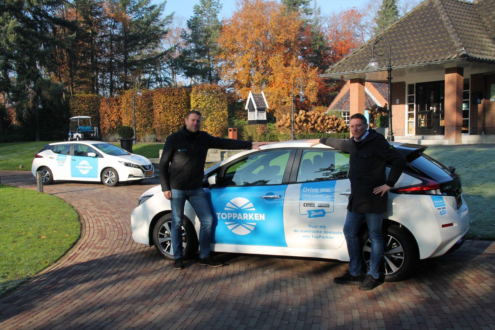 TopParken maakt vakantiepark duurzamer met V2G elektrische auto's
