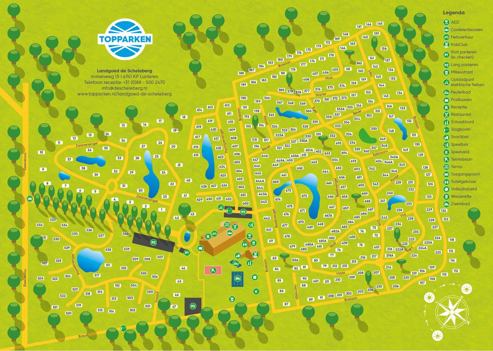 Plattegrond Landgoed de Scheleberg