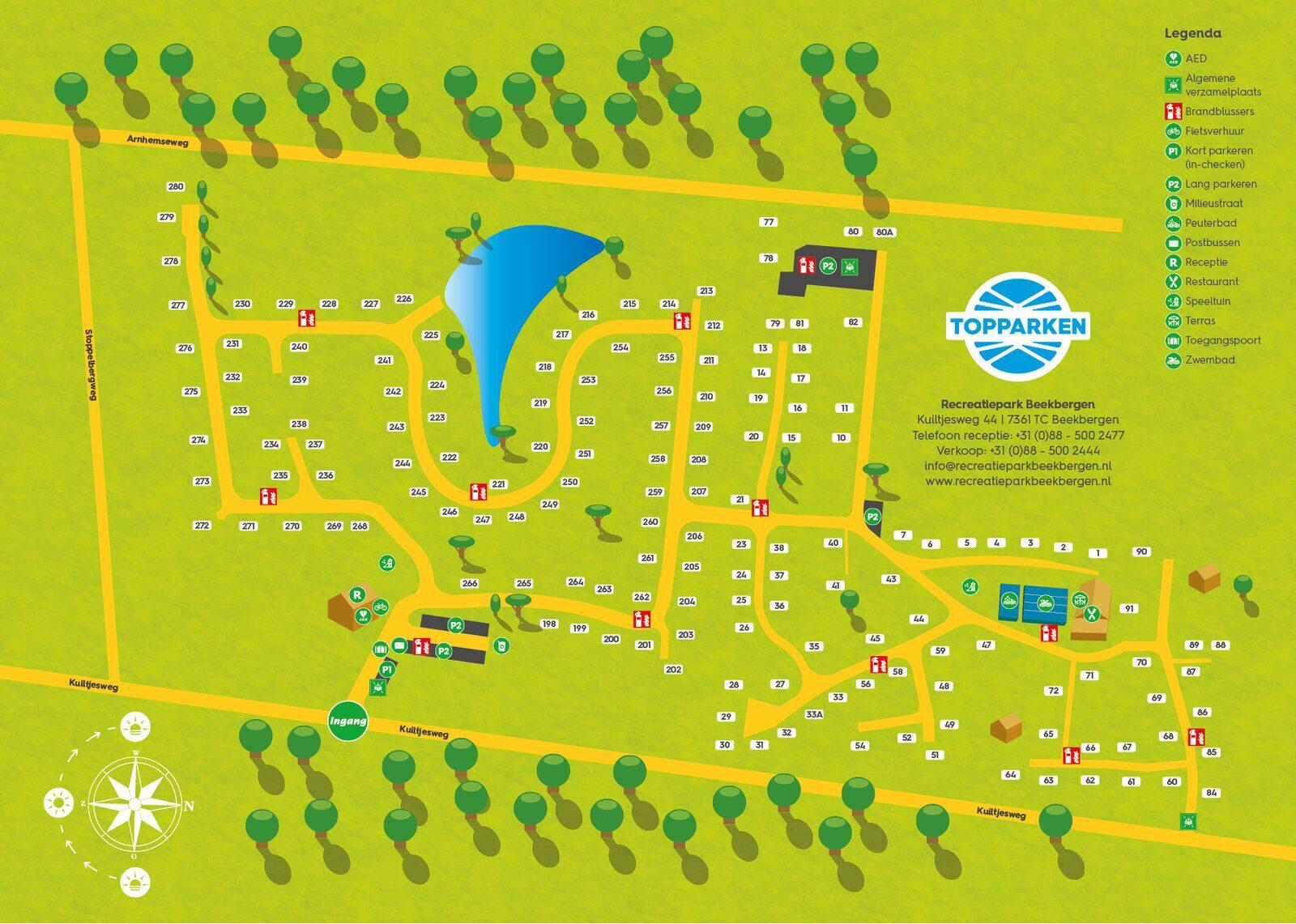 Lageplan Freizeitpark Beekbergen
