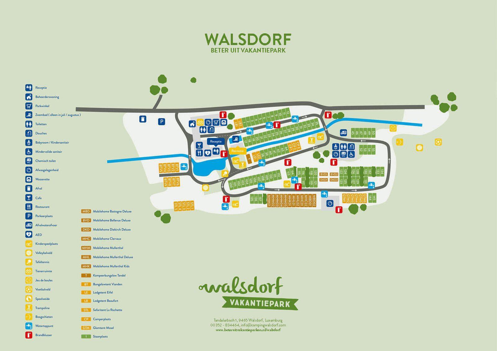 Plattegrond van Walsdorf