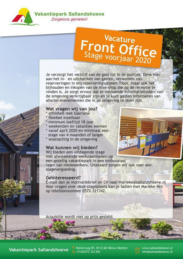 Vacature Front Office
