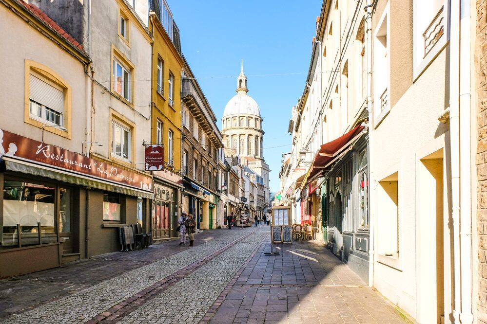Near the historic centre of Boulogne