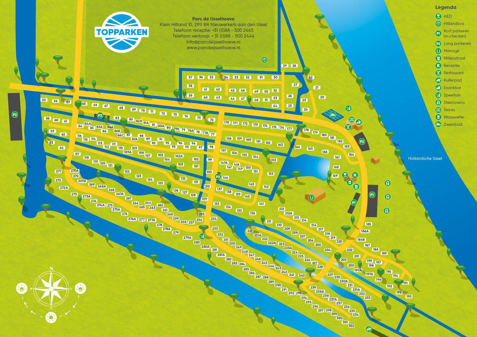 Park plattegrond Parc de IJsselhoeve