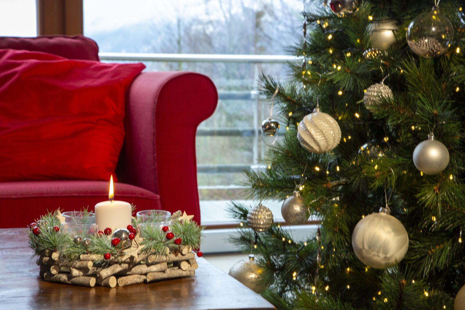 Kerstsfeer in uw appartement