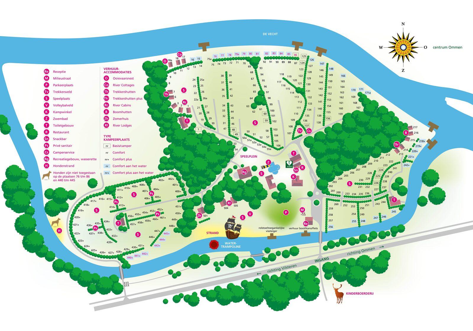 Camping de Koeksebelt Ommen Plattegrond 2020