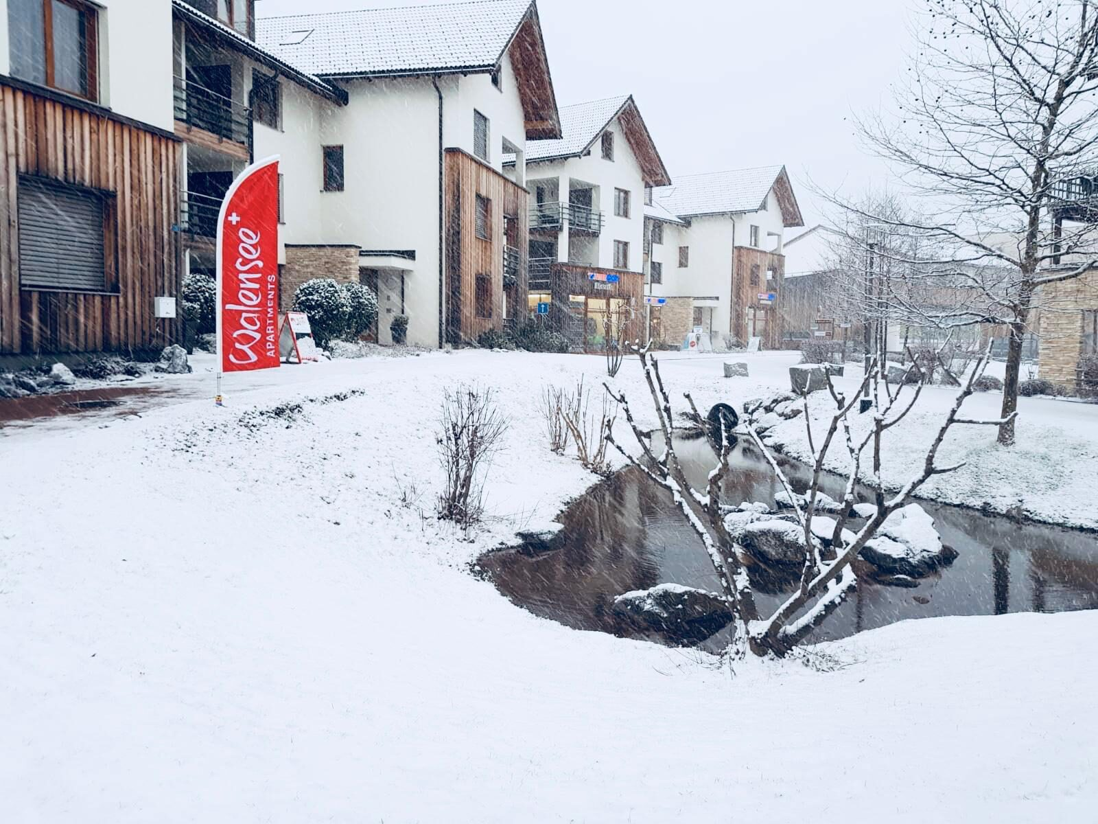 Resort Walensee apartments, a small village right by Flusmerberg and next to the lake Walensee , is ideal for your winter holidays