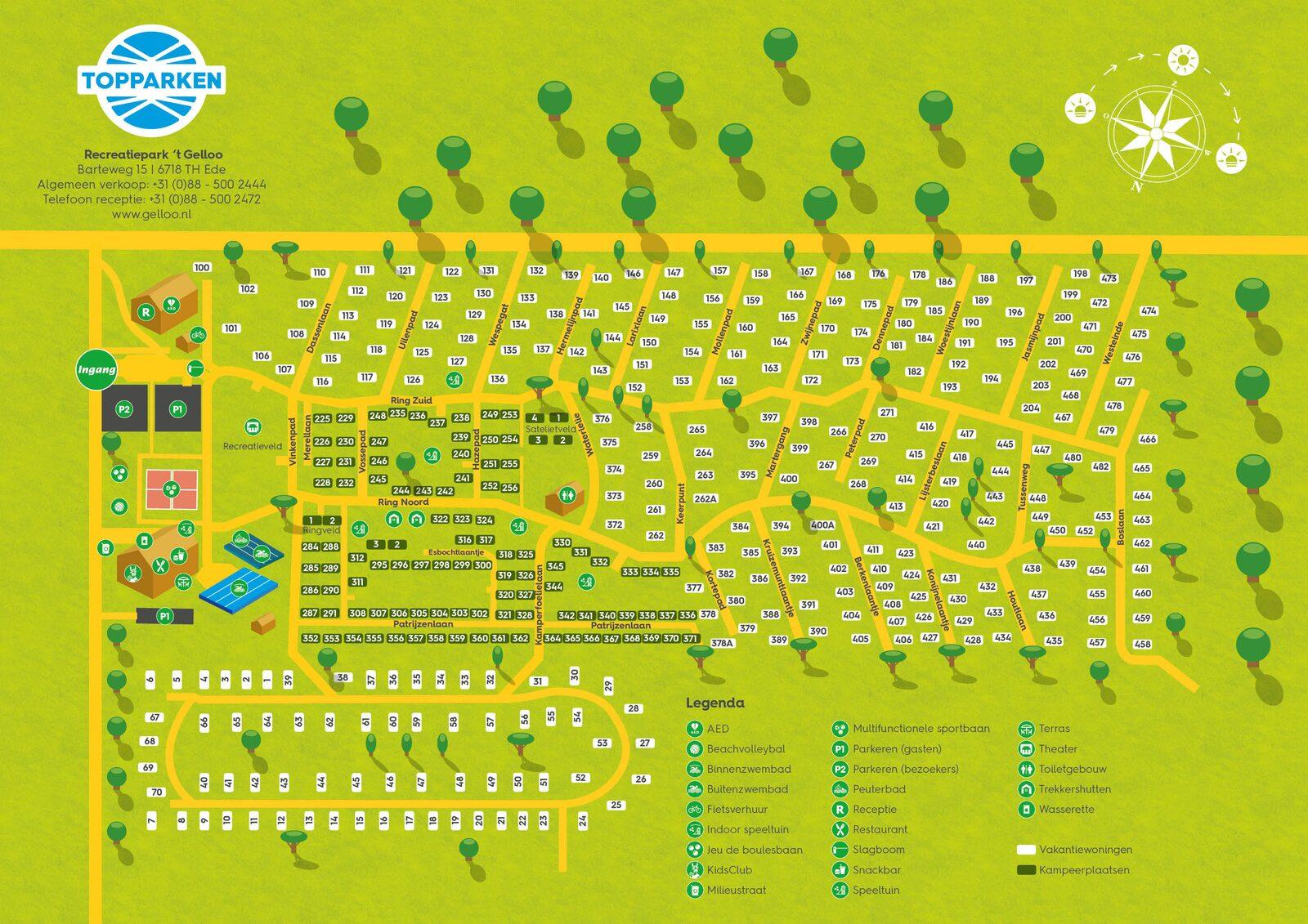 Plattegrond van Recreatiepark 't Gelloo