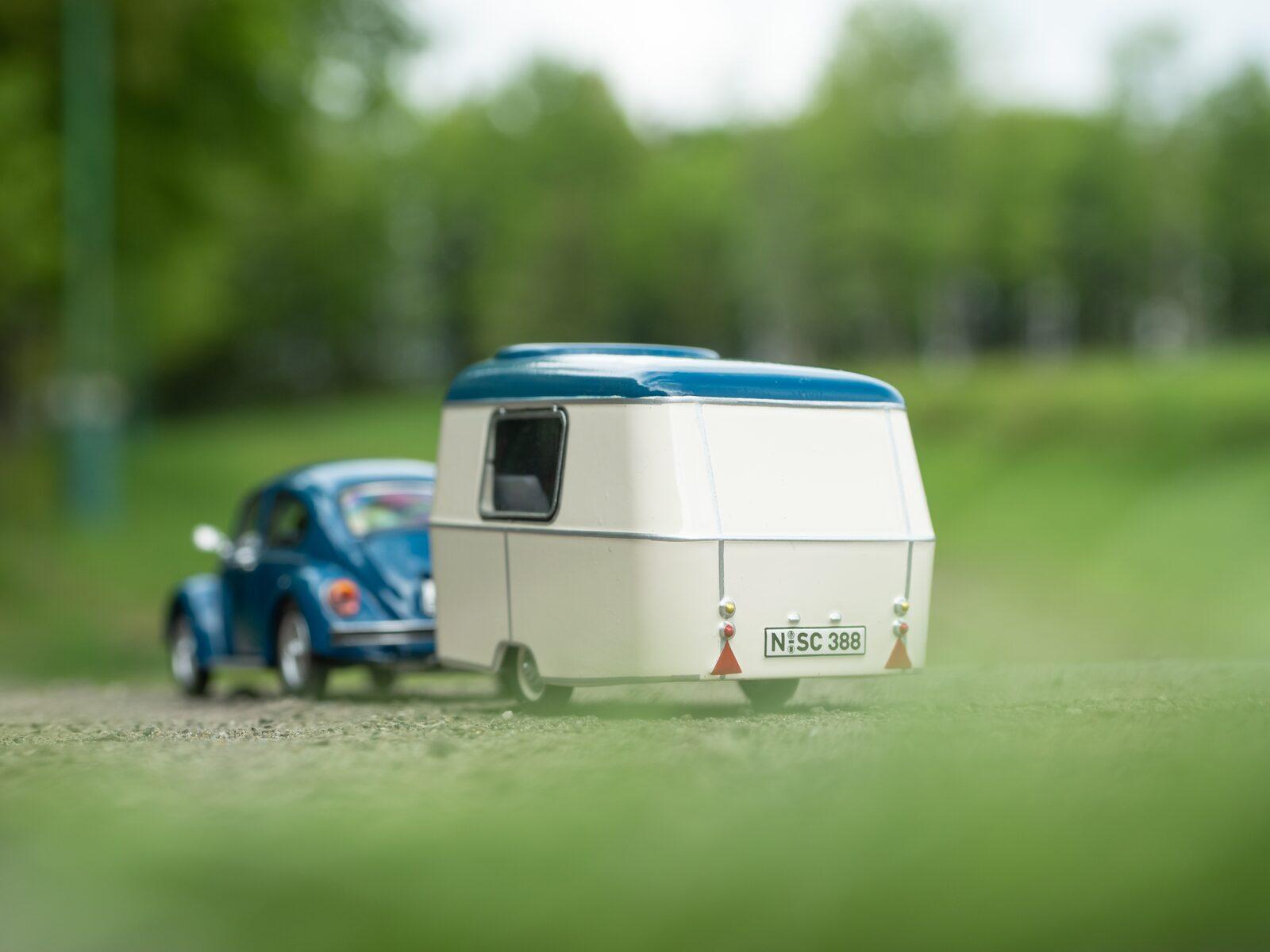 caravan auto miniatuur speelgoed