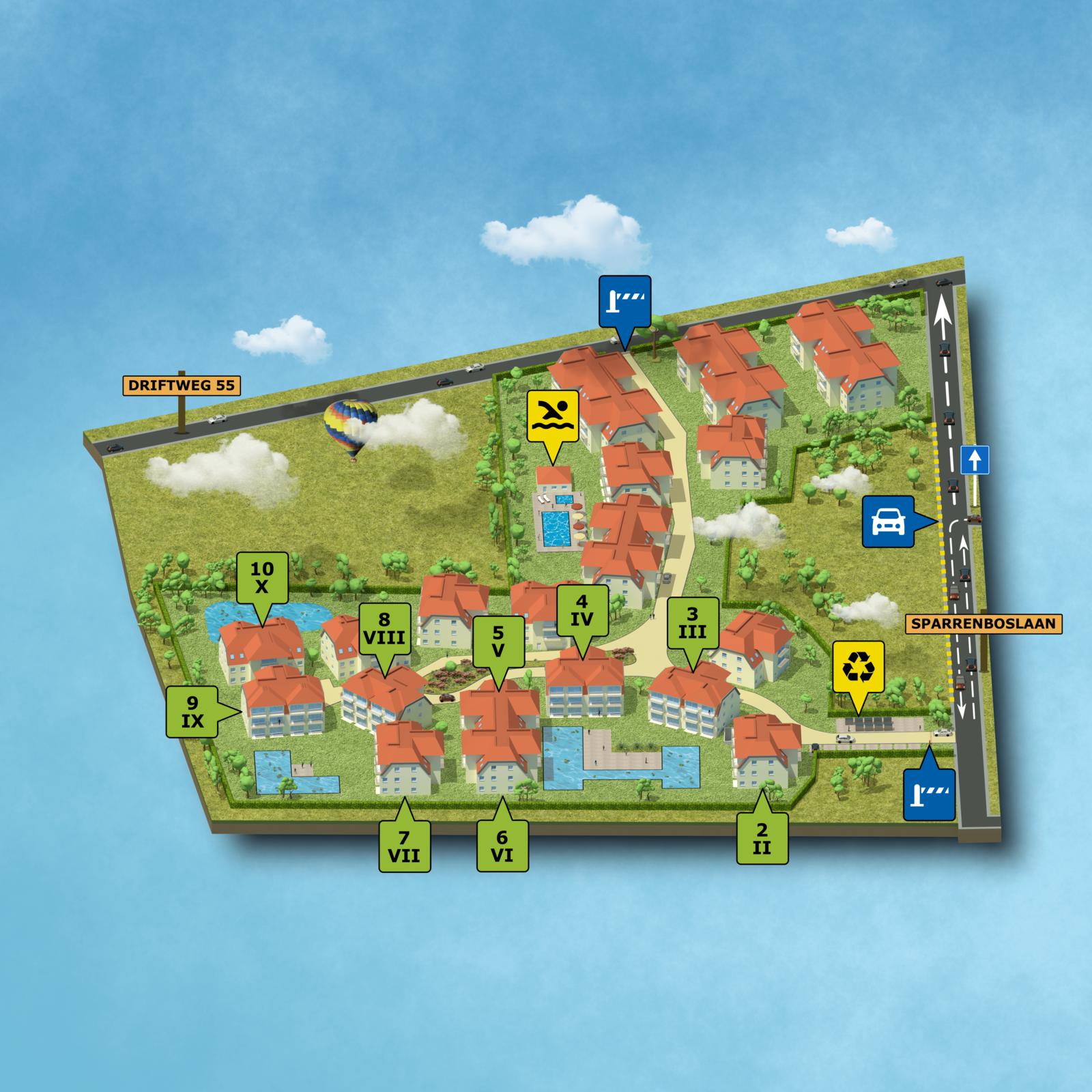 Plan Holiday Suites De Haan