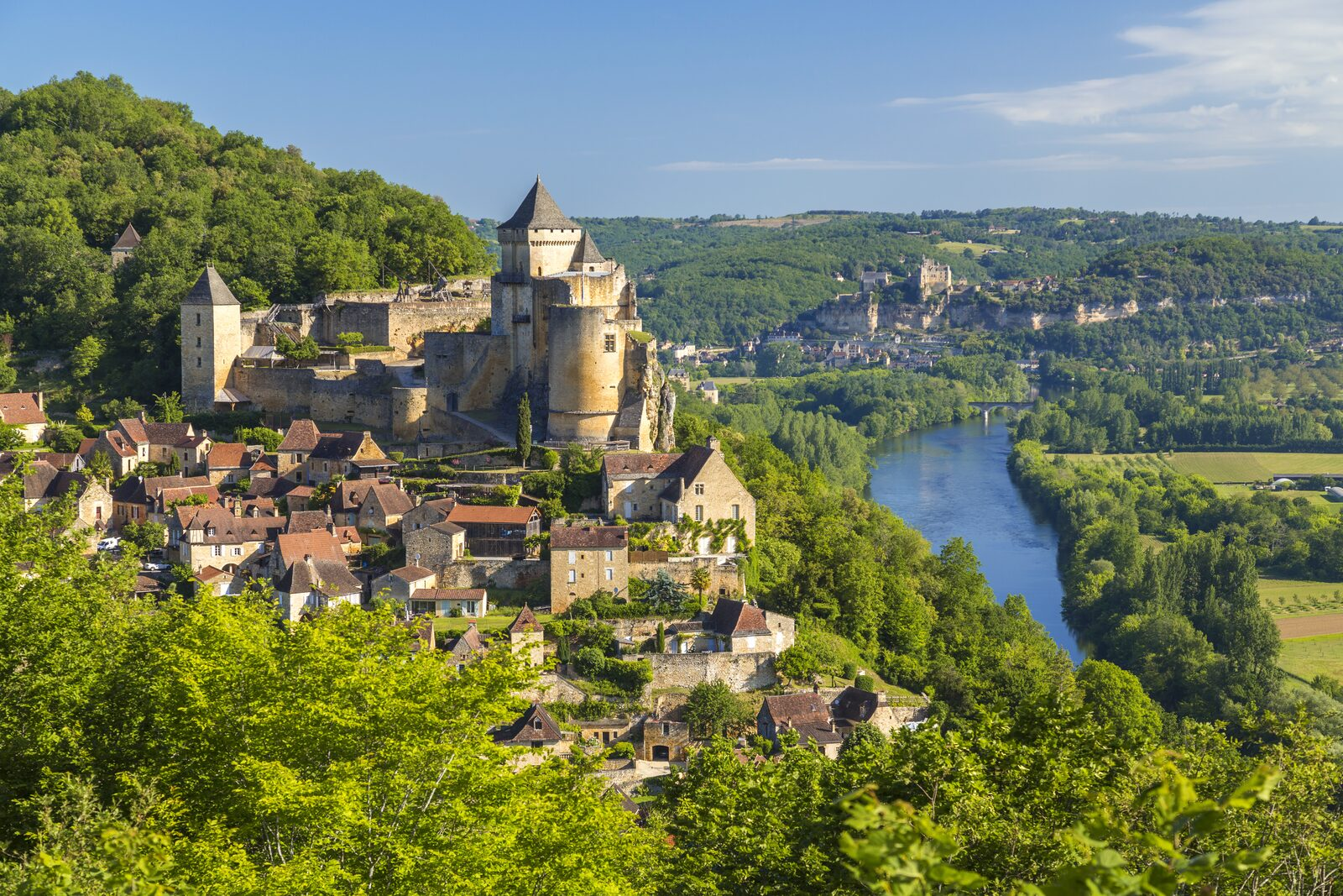 Kasteel Castelnaud Dordogne Zuid Frankrijk