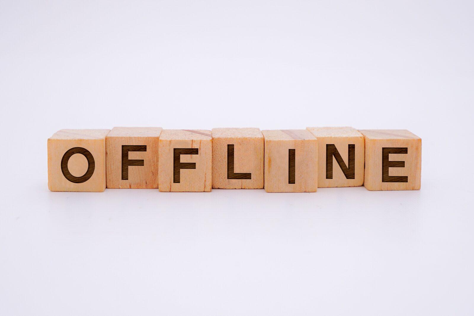 Offline blokken letters