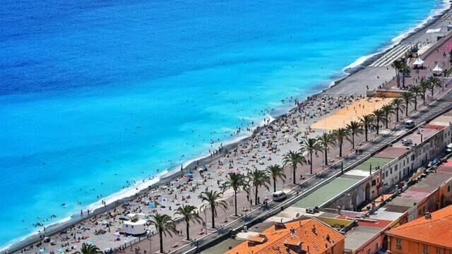 Promenade des anglais à Nice sur la Côte d'Azur
